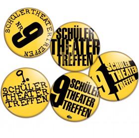 Buttons vom 9. Schülertheatertreffen 2009