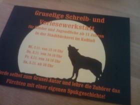 Flyer 'Schreib- und Vorlesewerkstatt', Stadtbücherei Ostfildern