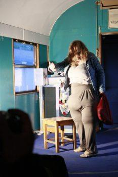 """""""Die Dicke"""" Beim Darbietungsabend #1 Bei Den Waggons; Foto: Carsten Bach"""