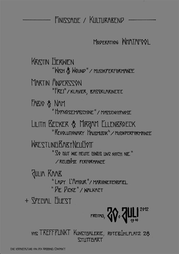Plakat vhs Kunstgalerie_Finissage Kulturabend