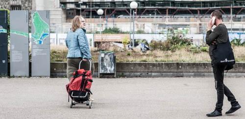 Die Dicke - Der Walkact; Foto: Oliver Röckle