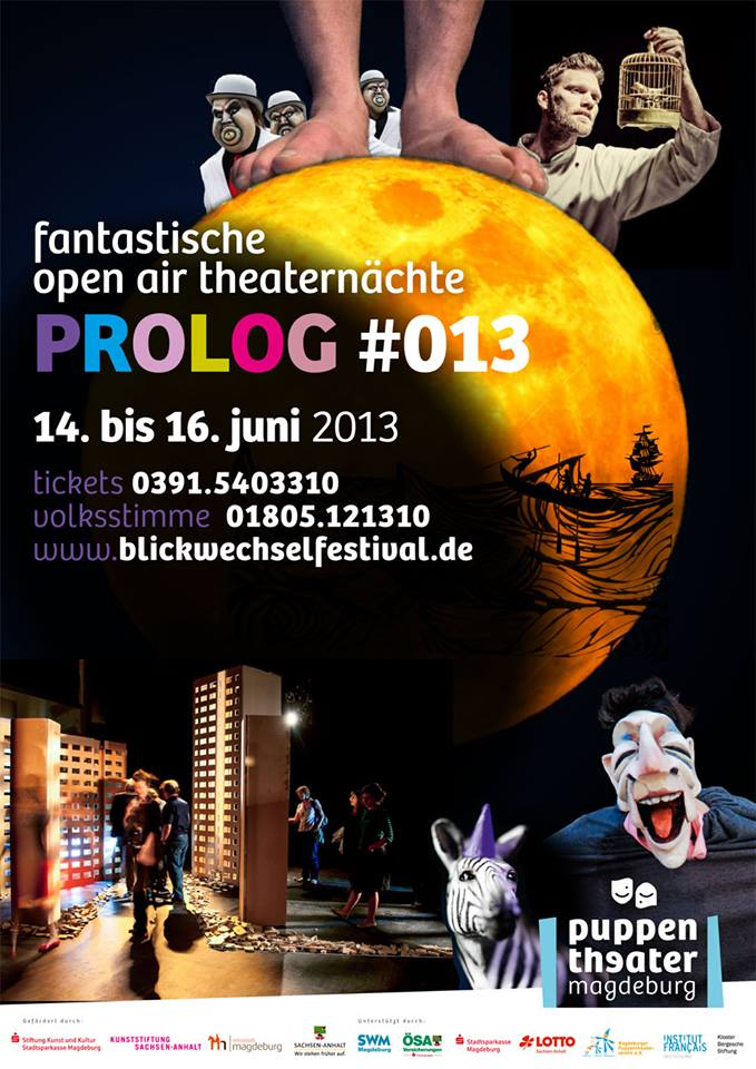 Plakat 'Prolog #013'; Quelle: Puppentheater Magdeburg on facebook
