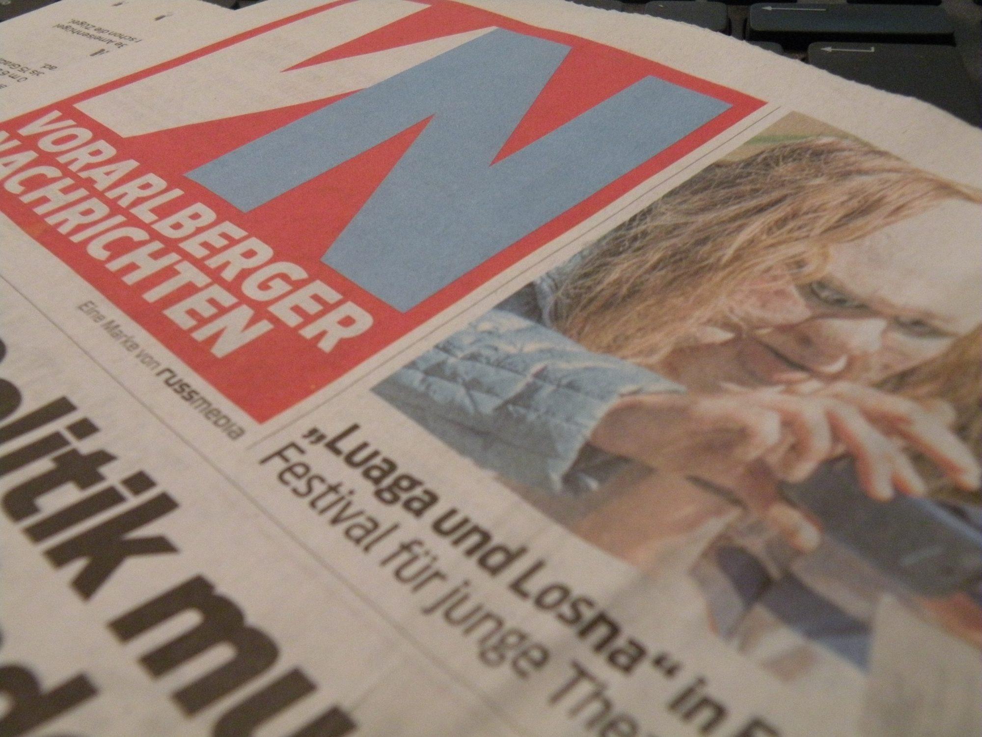 Titelblatt der Vorarlberger Nachrichten vom 05. September 2013