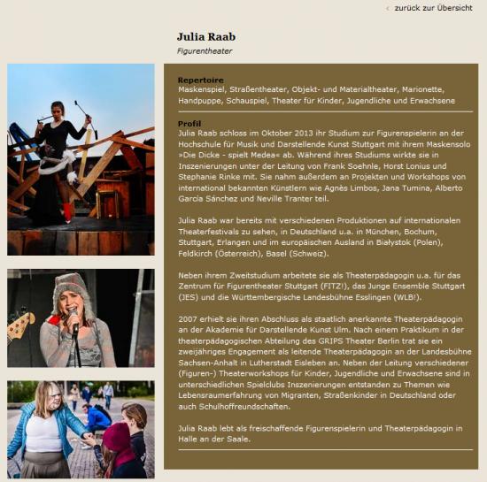 Screenshot von meiner Profilseite; Quelle: kuenstlervermittlung-stuttgart.de