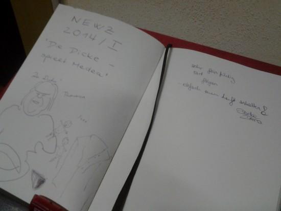 Eintrag im FITZ!-Gästebuch
