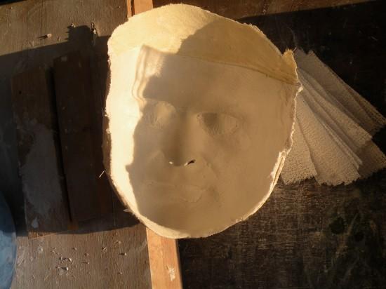 Gips-Negativ von Thilo Herrmanns Gesicht