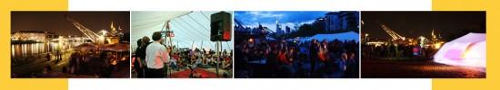 Fotoreihe 'Sommerwerft - Theaterfestival am Fluss'