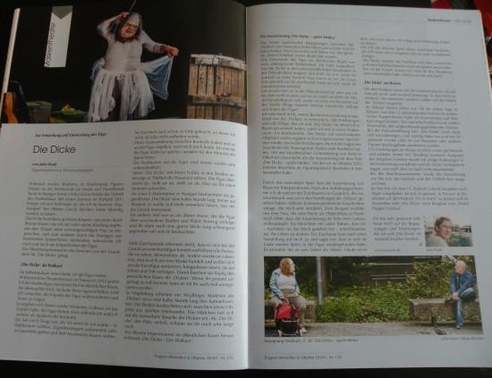 Artikel in Theaterzeitschrift 'Puppen Menschen & Objekte'