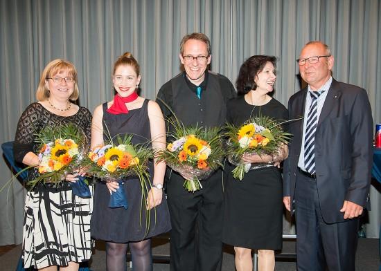 Gruppenfoto; von links: Frau Neisz, ich, Detlev Nyca, Frau Sander, Herr Ahlers