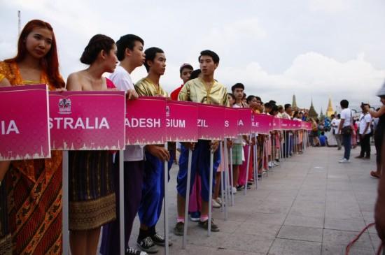 Schilderparade in Bangkok