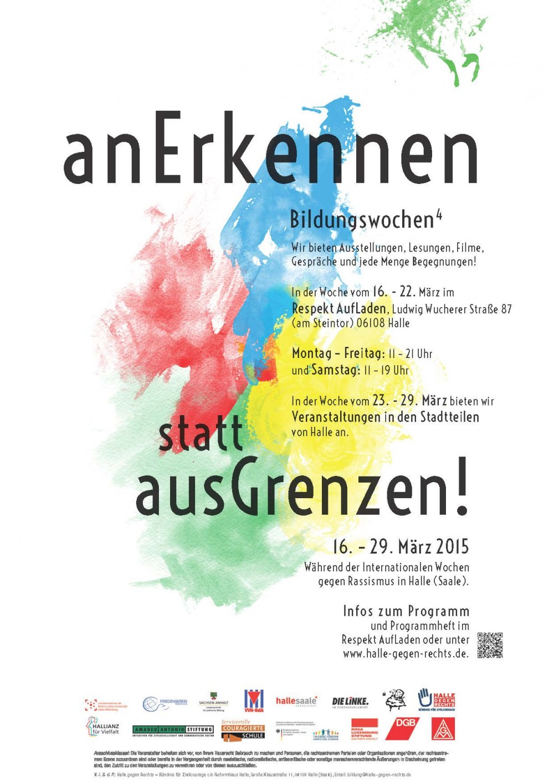 Bildungswochen 2015, Plakat