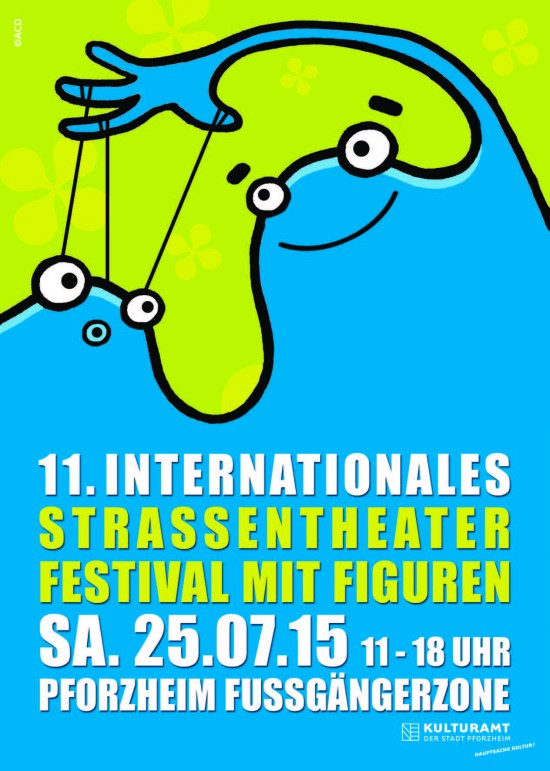 Plakat, Straßentheaterfestival Pforzheim 2015