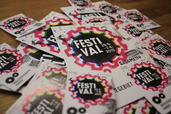 Flyer & Sticker vom Festival 'Industriegebietskinder' in Halle