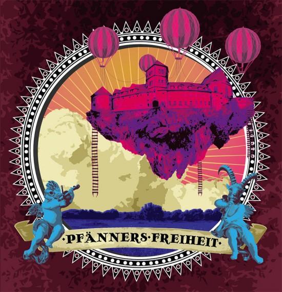 Plakat 'Pfänners Freiheit - Sommertheaterfest der freien Theater zu Halle'