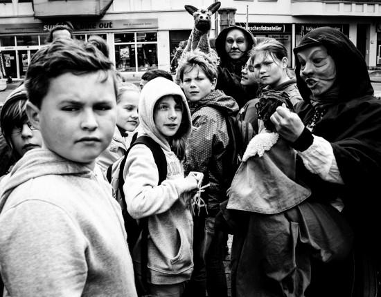 'Von Halunken und Halloren - Eine Stadtführung für Kinder, hier mit Expertenklasse 4a der Grundschule Diemietz/Freiimfelde