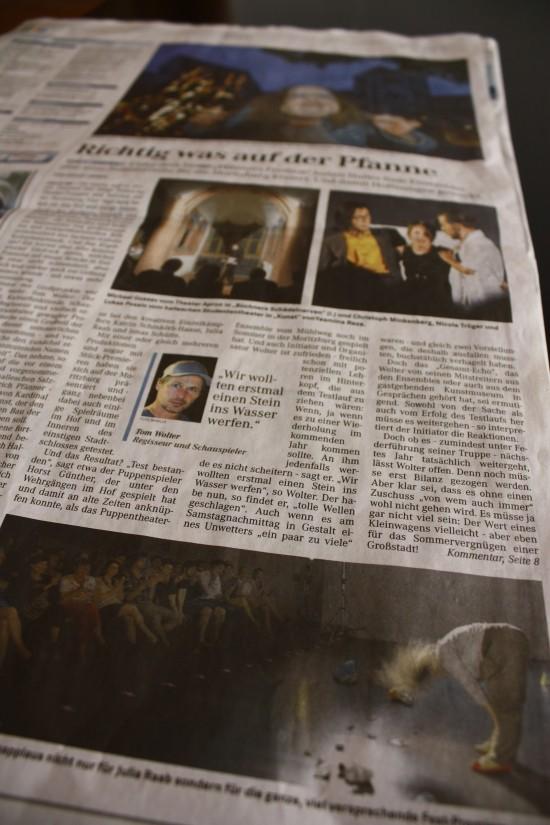 Presseartikel; Mitteldeutsche Zeitung, Artikel: 'Richtig was auf der Pfanne'; 20.07.2015