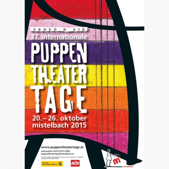 Plakat '37. Internationale Puppentheatertage Mistelbach'; Quelle: puppentheatertage.at