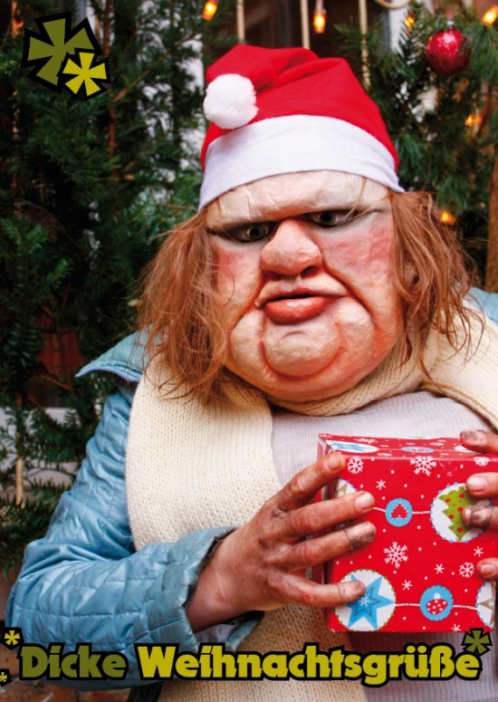 'Dicke Weihnachtsgrüße'; Foto & Design: Carsten Bach