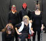 Szenenfoto 'GESICHTSLOS', Maskenspiel-Präsentation SP03/14 der Johanniter-Akademie Leipzig4