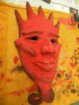 Maske 'Mephisto' mit Grundierung