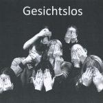 Plakatausschnitt 'GESICHTSLOS'; Präsentation 'Maskenspiel' der Klasse SP 03/14 der Johanniter-Akademie Leipzig