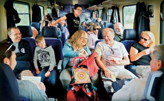 'Die Dicke' im Kulturzug unterwegs