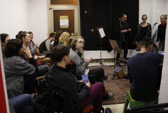 Gäste im Atelier fiese8 bei Hörspiel auf Verlangen