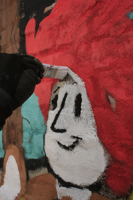 Yves Paradis, Wandgestaltung Atelier fiese8