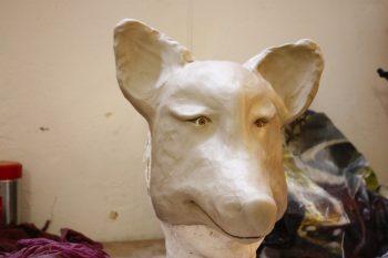 Fuchs Smirre modelliert in Ton