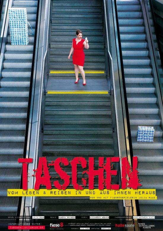 Plakat TASCHEN - Vom Leben und Reisen in und aus ihnen heraus'; Gestaltung: Carsten Bach; Foto: Julia Fenske