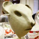 Kopf in Ton modelliert; Workshop Figurenbau, Johanniter Akademie