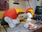 Schnabelmasken von Papageno und Papagena als Notfall Maskenbau-Auftrag für das Goethe-Theater Bad Lauchstädt