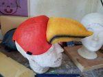 Schnabelmaske von Papagena als Notfall Maskenbau-Auftrag für das Goethe-Theater Bad Lauchstädt