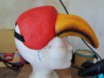 Schnabelmaske von Papageno als Notfall Maskenbau-Auftrag für das Goethe-Theater Bad Lauchstädt