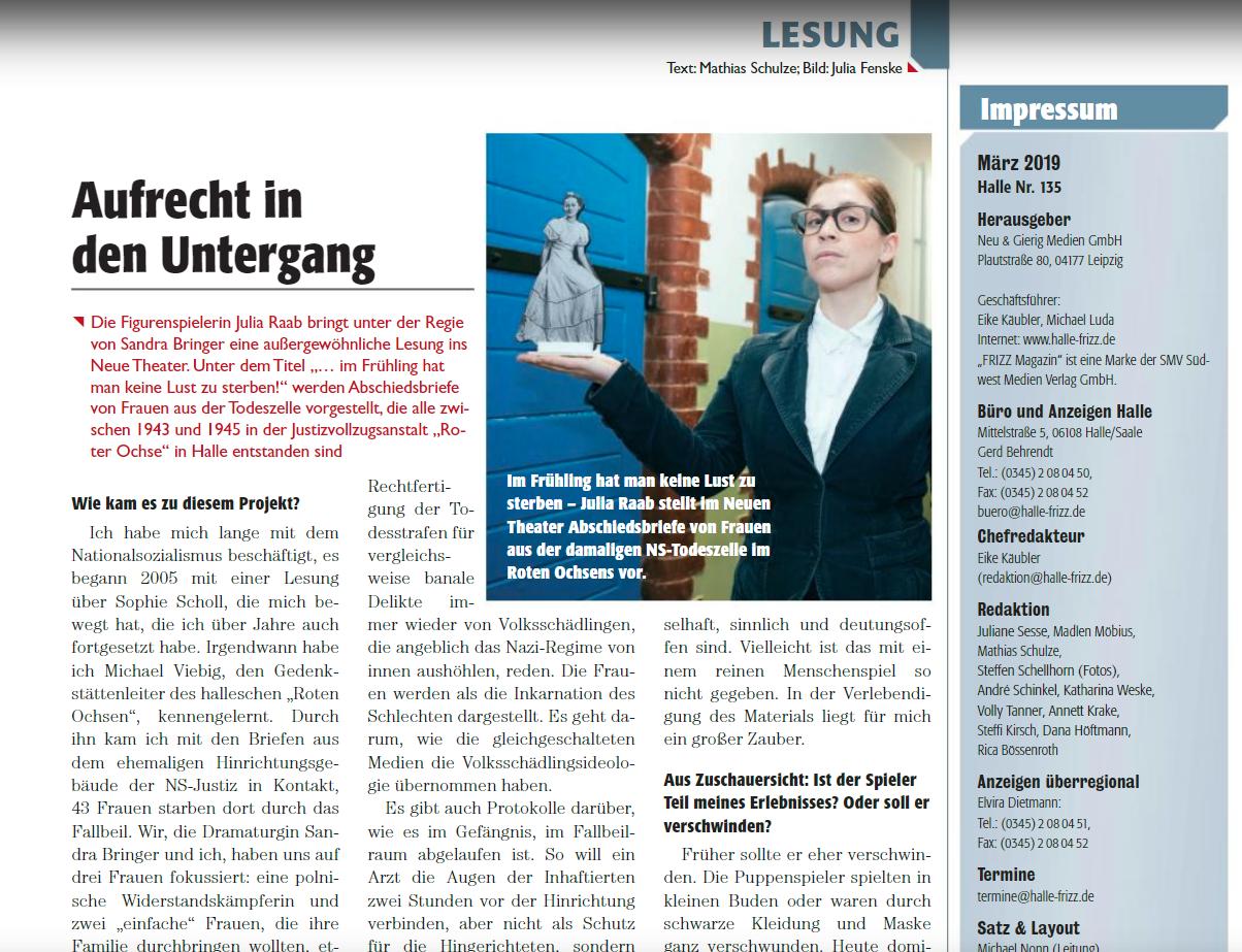 Frizz Magazin, März 2019, Halle, Nr 135, Seite 28