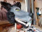 Klappmaulpuppe für die Figurentheaterproduktion 'Der schwarze Hund'
