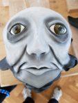 Doppelmaske für die Figurentheater-Produktion 'Der schwarze Hund', gebaut von Figurenspielerin Julia Raab